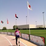 UAE一試合目(シャルジャ)第一日目。股義足ランナー世界デビュー!